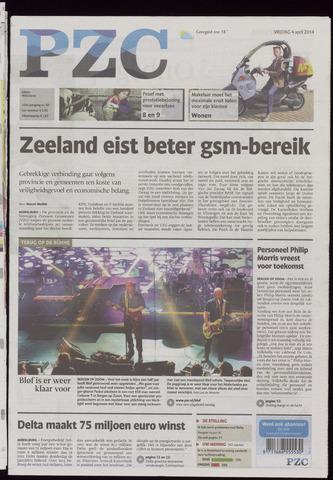 Provinciale Zeeuwse Courant 2014-04-04