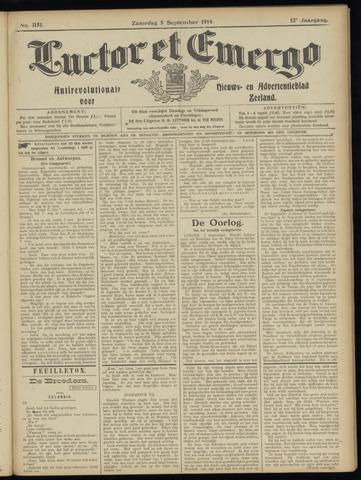 Luctor et Emergo. Antirevolutionair nieuws- en advertentieblad voor Zeeland / Zeeuwsch-Vlaanderen. Orgaan ter verspreiding van de christelijke beginselen in Zeeuwsch-Vlaanderen 1914-09-05