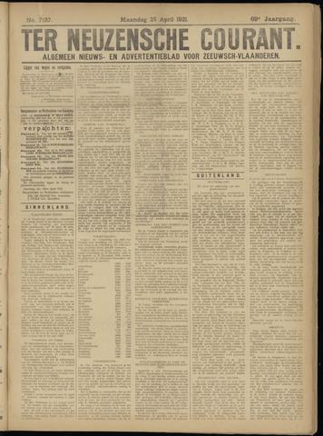 Ter Neuzensche Courant. Algemeen Nieuws- en Advertentieblad voor Zeeuwsch-Vlaanderen / Neuzensche Courant ... (idem) / (Algemeen) nieuws en advertentieblad voor Zeeuwsch-Vlaanderen 1921-04-25