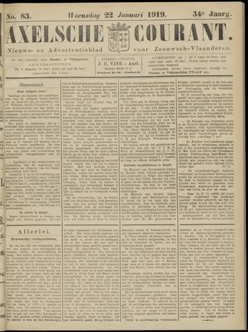 Axelsche Courant 1919-01-22