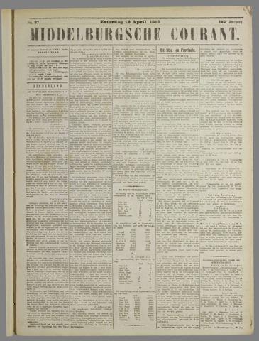 Middelburgsche Courant 1919-04-12