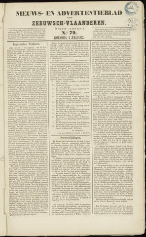 Ter Neuzensche Courant. Algemeen Nieuws- en Advertentieblad voor Zeeuwsch-Vlaanderen / Neuzensche Courant ... (idem) / (Algemeen) nieuws en advertentieblad voor Zeeuwsch-Vlaanderen 1855-07-04