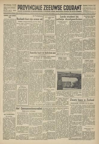 Provinciale Zeeuwse Courant 1947-10-07
