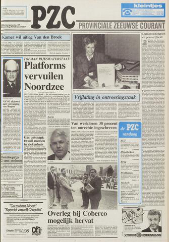 Provinciale Zeeuwse Courant 1987-02-25