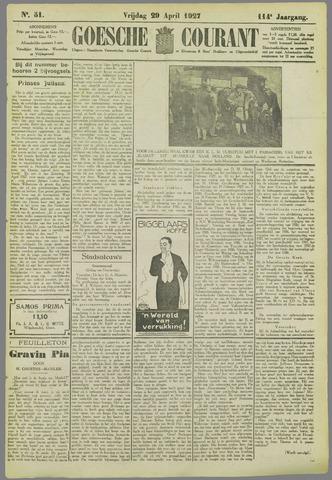 Goessche Courant 1927-04-29