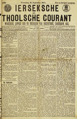 Ierseksche en Thoolsche Courant 1914-09-16