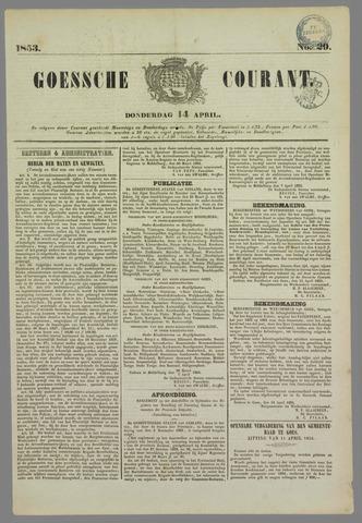 Goessche Courant 1853-04-14