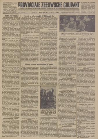 Provinciale Zeeuwse Courant 1942-11-18