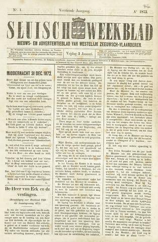 Sluisch Weekblad. Nieuws- en advertentieblad voor Westelijk Zeeuwsch-Vlaanderen 1873
