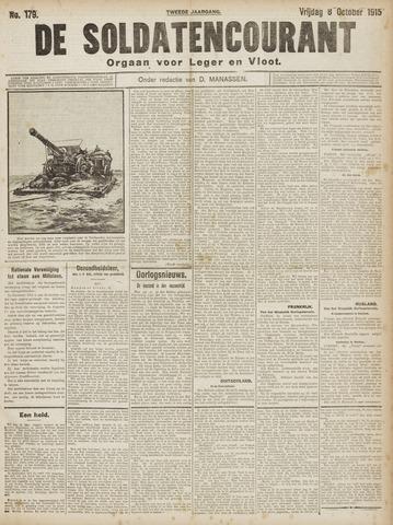 De Soldatencourant. Orgaan voor Leger en Vloot 1915-10-08