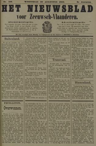 Nieuwsblad voor Zeeuwsch-Vlaanderen 1900-08-22