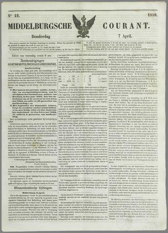Middelburgsche Courant 1859-04-07
