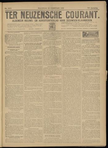 Ter Neuzensche Courant. Algemeen Nieuws- en Advertentieblad voor Zeeuwsch-Vlaanderen / Neuzensche Courant ... (idem) / (Algemeen) nieuws en advertentieblad voor Zeeuwsch-Vlaanderen 1933-02-20