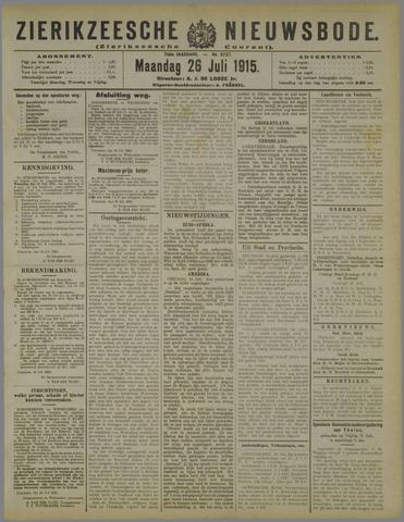Zierikzeesche Nieuwsbode 1915-07-26