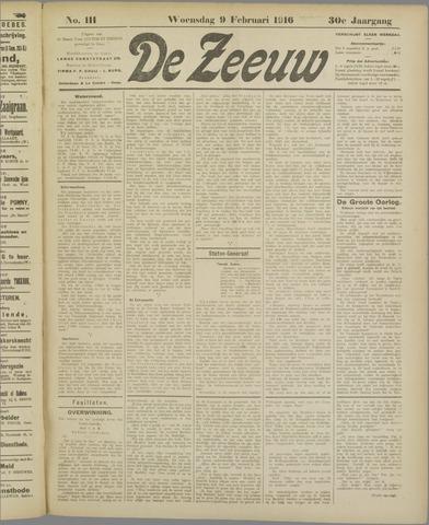 De Zeeuw. Christelijk-historisch nieuwsblad voor Zeeland 1916-02-09