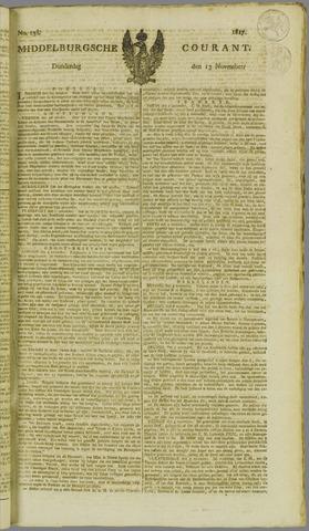 Middelburgsche Courant 1817-11-13