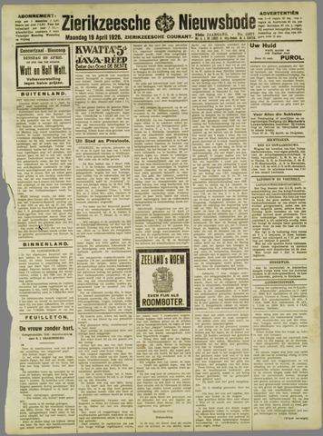Zierikzeesche Nieuwsbode 1926-04-19