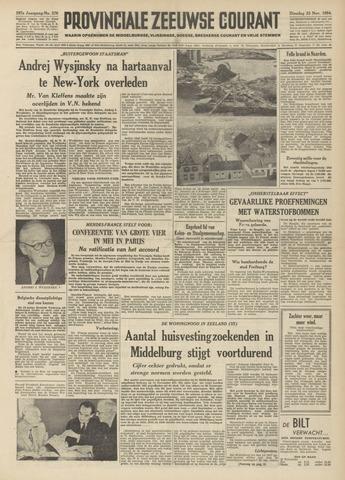 Provinciale Zeeuwse Courant 1954-11-23