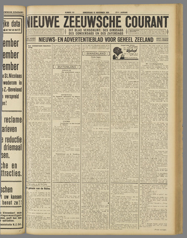 Nieuwe Zeeuwsche Courant 1931-11-12