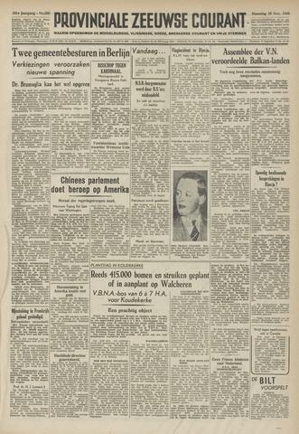 Provinciale Zeeuwse Courant 1948-11-29