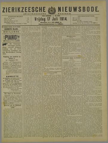 Zierikzeesche Nieuwsbode 1914-07-17
