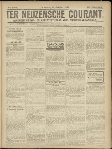 Ter Neuzensche Courant. Algemeen Nieuws- en Advertentieblad voor Zeeuwsch-Vlaanderen / Neuzensche Courant ... (idem) / (Algemeen) nieuws en advertentieblad voor Zeeuwsch-Vlaanderen 1928-10-22