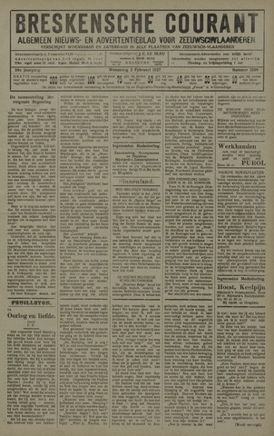 Breskensche Courant 1927-02-02
