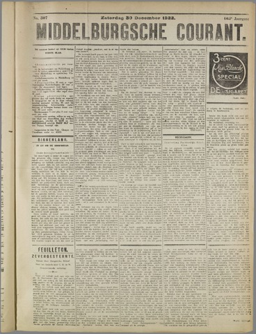 Middelburgsche Courant 1922-12-30