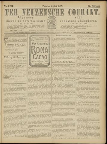 Ter Neuzensche Courant. Algemeen Nieuws- en Advertentieblad voor Zeeuwsch-Vlaanderen / Neuzensche Courant ... (idem) / (Algemeen) nieuws en advertentieblad voor Zeeuwsch-Vlaanderen 1912-07-06