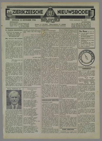 Zierikzeesche Nieuwsbode 1936-11-10