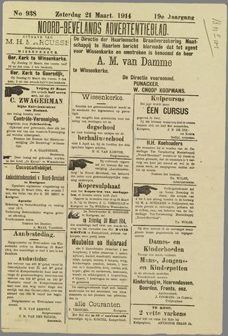 Noord-Bevelands Nieuws- en advertentieblad 1914