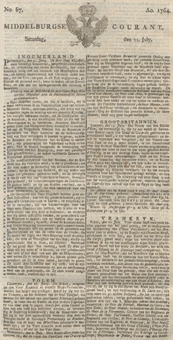 Middelburgsche Courant 1764-07-21