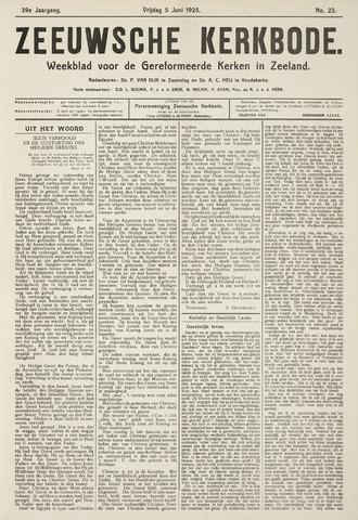 Zeeuwsche kerkbode, weekblad gewijd aan de belangen der gereformeerde kerken/ Zeeuwsch kerkblad 1925-06-05