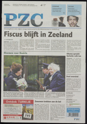 Provinciale Zeeuwse Courant 2013-01-30