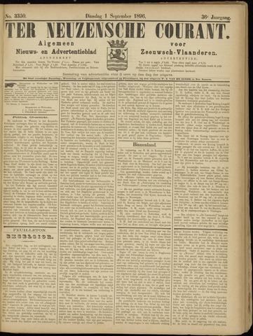 Ter Neuzensche Courant. Algemeen Nieuws- en Advertentieblad voor Zeeuwsch-Vlaanderen / Neuzensche Courant ... (idem) / (Algemeen) nieuws en advertentieblad voor Zeeuwsch-Vlaanderen 1896-09-01