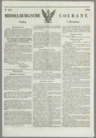 Middelburgsche Courant 1871-12-01