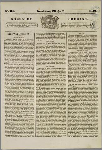 Goessche Courant 1849-04-26
