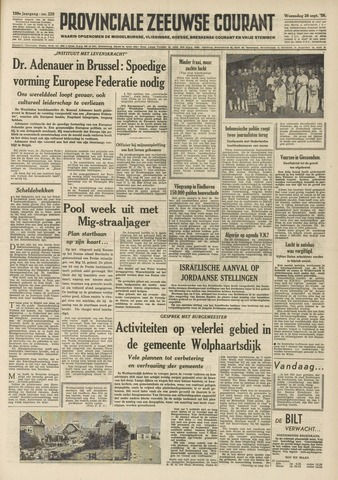 Provinciale Zeeuwse Courant 1956-09-26