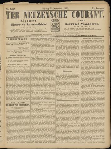 Ter Neuzensche Courant. Algemeen Nieuws- en Advertentieblad voor Zeeuwsch-Vlaanderen / Neuzensche Courant ... (idem) / (Algemeen) nieuws en advertentieblad voor Zeeuwsch-Vlaanderen 1898-11-22