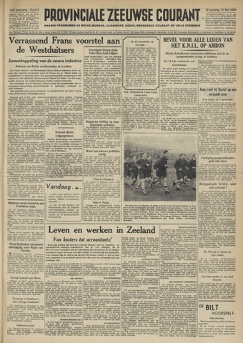 Provinciale Zeeuwse Courant 1950-05-10
