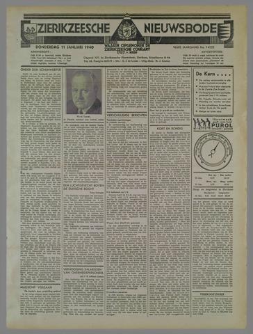 Zierikzeesche Nieuwsbode 1940-01-11