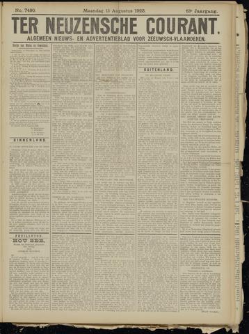 Ter Neuzensche Courant. Algemeen Nieuws- en Advertentieblad voor Zeeuwsch-Vlaanderen / Neuzensche Courant ... (idem) / (Algemeen) nieuws en advertentieblad voor Zeeuwsch-Vlaanderen 1923-08-13