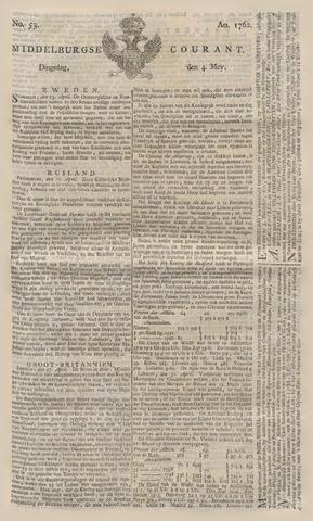 Middelburgsche Courant 1762-05-04