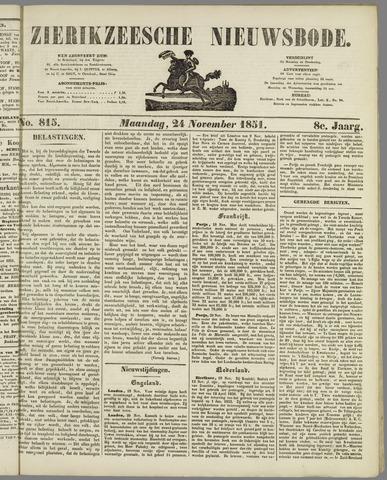 Zierikzeesche Nieuwsbode 1851-11-24