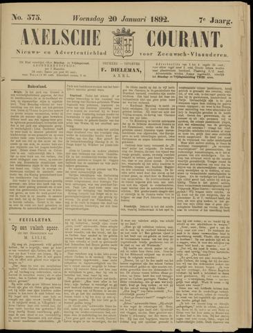 Axelsche Courant 1892-01-20