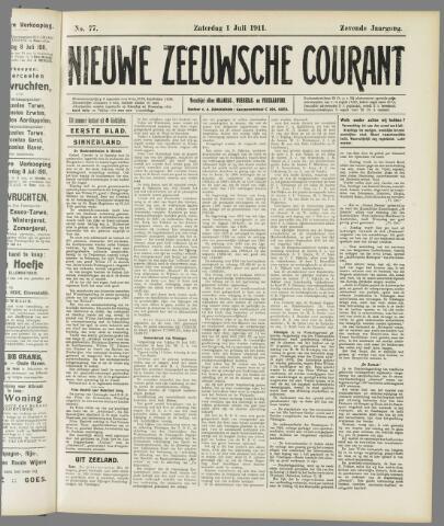 Nieuwe Zeeuwsche Courant 1911-07-01