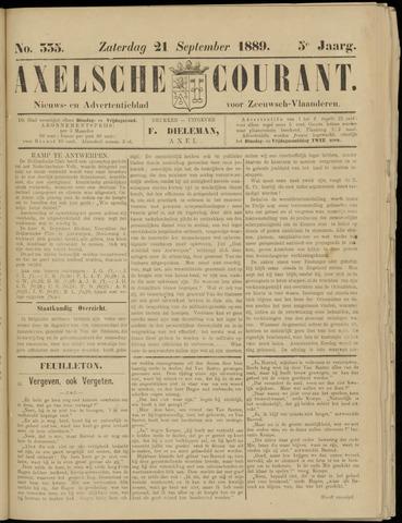 Axelsche Courant 1889-09-21