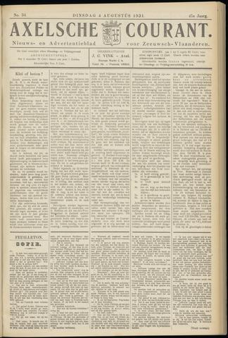 Axelsche Courant 1931-08-04