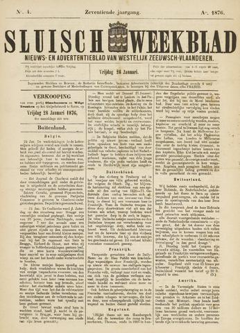 Sluisch Weekblad. Nieuws- en advertentieblad voor Westelijk Zeeuwsch-Vlaanderen 1876-01-28