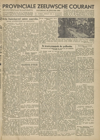 Provinciale Zeeuwse Courant 1944-01-29